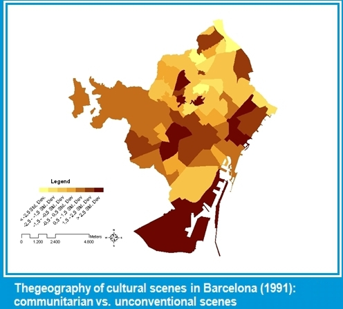 Thegeography of cultural scenes in Barcelona (1991-2001): communitarian vs. unconventional scenes